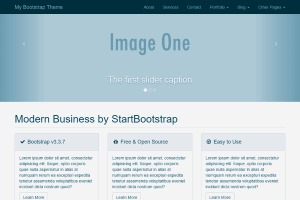 bootstrap demo theme