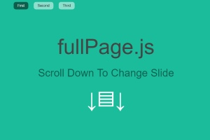 fullpage js scroll screen