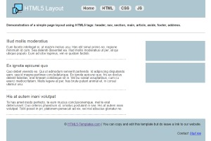 html5 page with sidebar